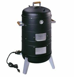 2-in-1 Electric Water Smoker Grill 2 Chrome-Plated Cooking G