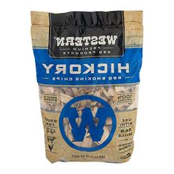 Western Premium BBQ Products Hickory Smoking Chips, 180 cu i