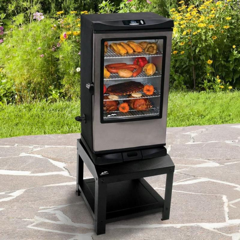Electric Digital Smoker Stand 40-Inch Grill Stand Shelves He