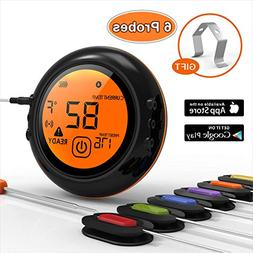 Barbella Digital Meat Thermometer with 6pcs Stainless Steel