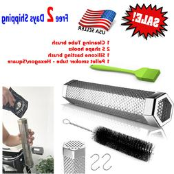 PELLET SMOKER TUBE Stainless Steel Electric Gas Charcoal BBQ