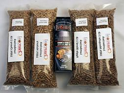 A-MAZE-N Tube Smoker Combo Pack Includes 1 lb Each of Lumber